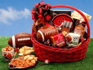 Football Fanatic Gift Basket